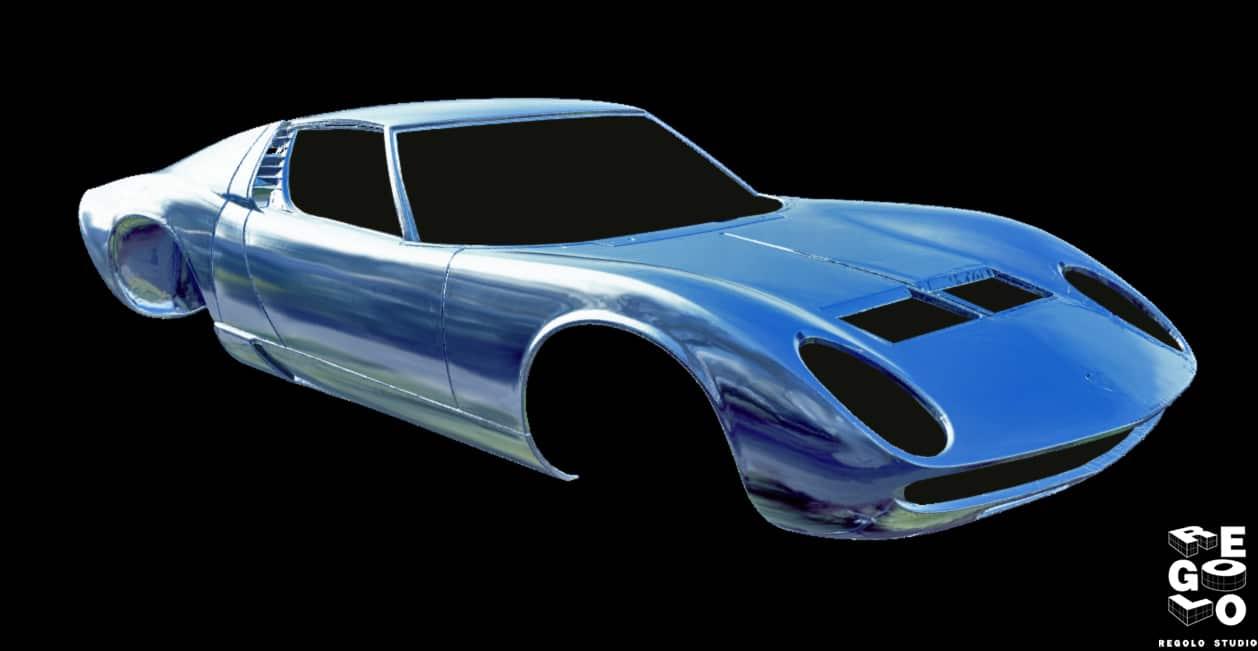 Mesh Lamborghini Miura per Reverse Engineering