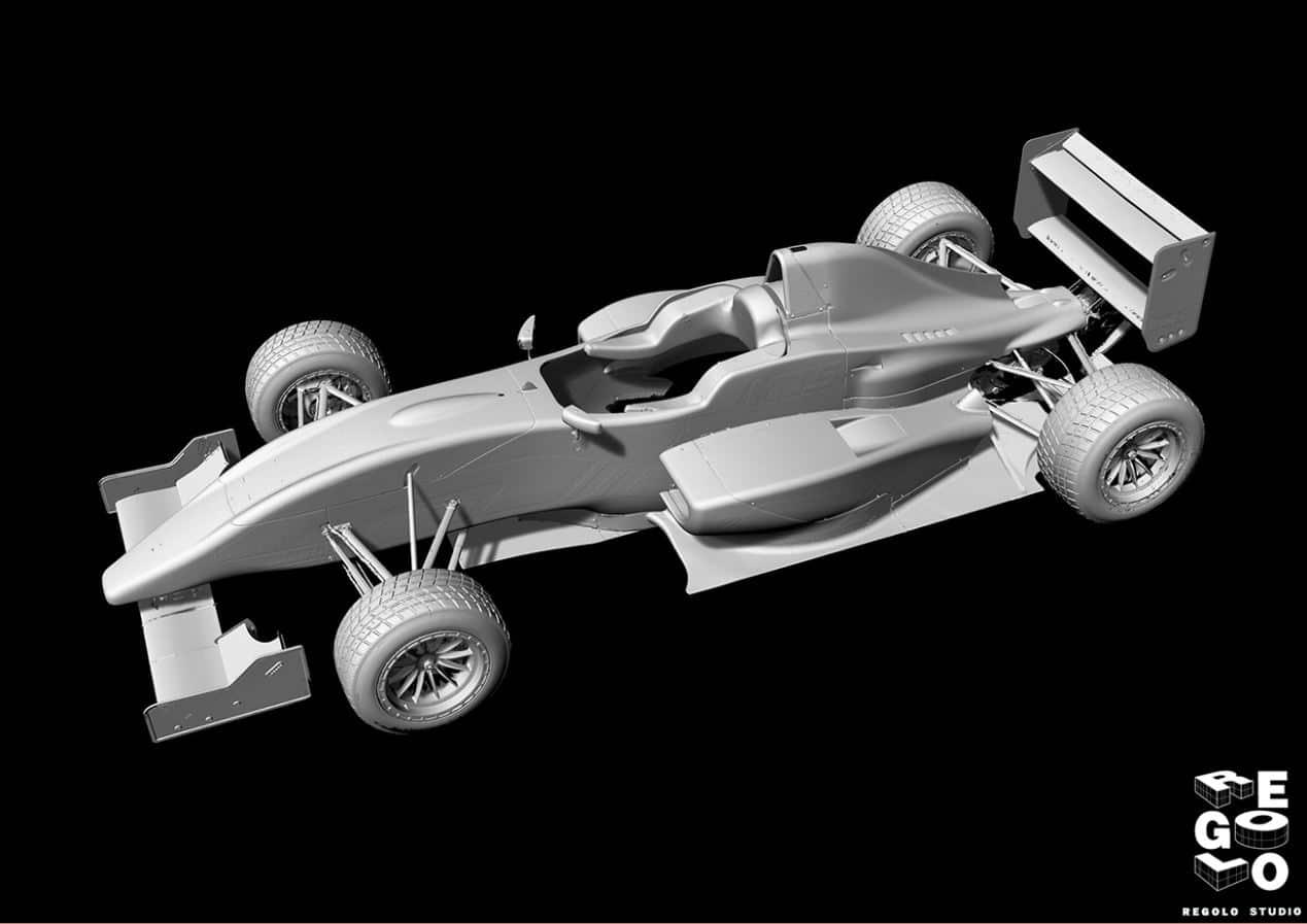 Modello 3D utilizzato per Reverse Engineering Automotive Formula3