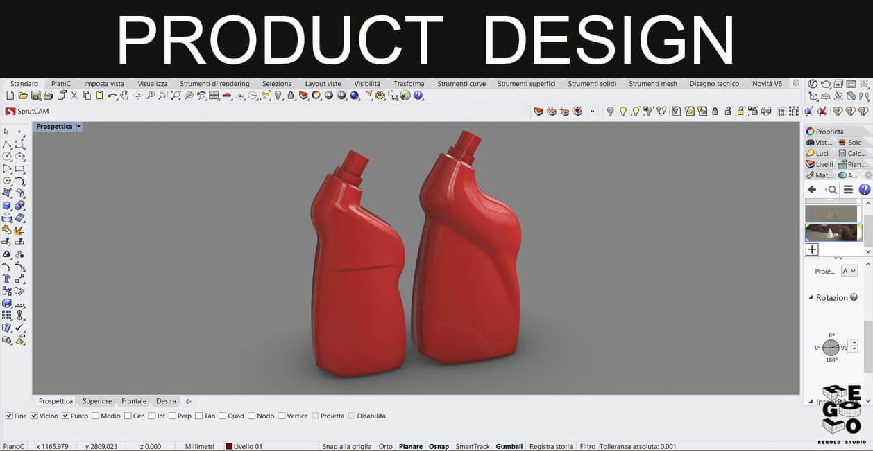 design di prodotto generato con rhinoceros 6