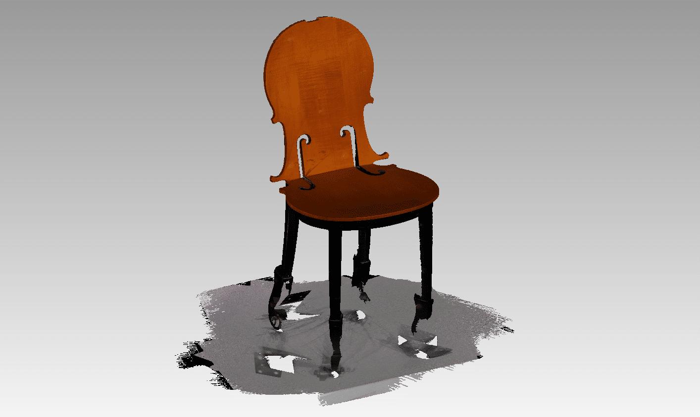 Scansione sedia a luce strutturata