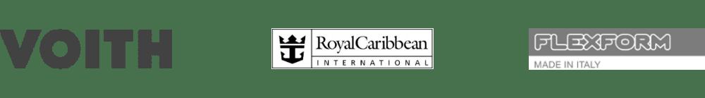 Tra i nostri clienti Voith, Royal Caribean, Flexform