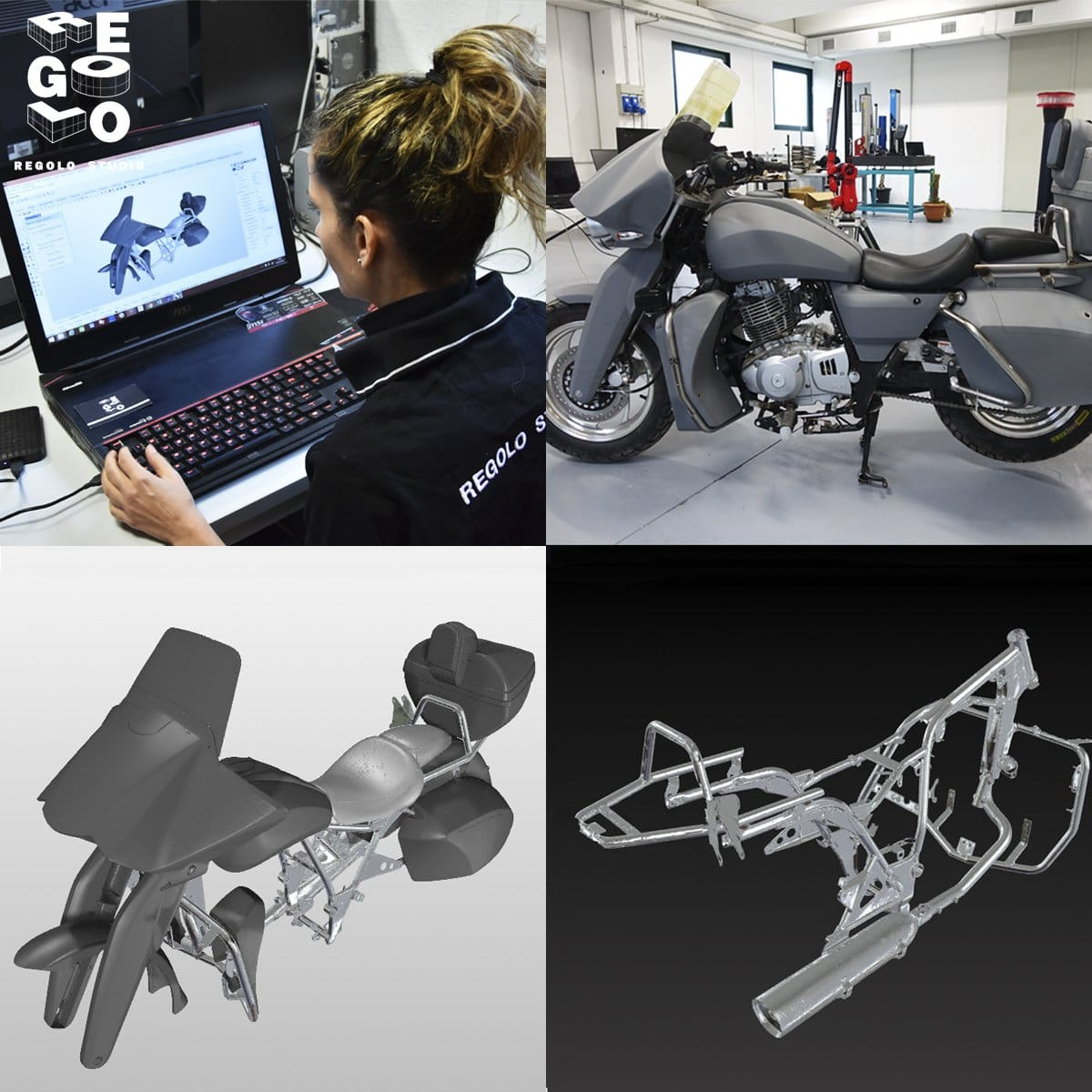 silvia salami fa reverse engineering su una moto carenata